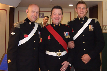 Sergeant Major Gary Chilton, Sergeant Richie Maddocks and Lance Corporal Ryan Idzi The Soldiers who performed the title track from their CD Coming Home