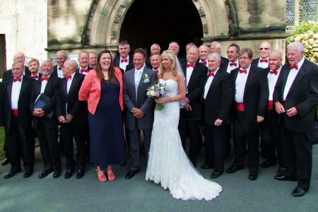 48.The Choir at Mark Evans (son of 1st Tenor Tudor Evans ) and Gemma Ellis's Wedding at Oswestry Parish Church.