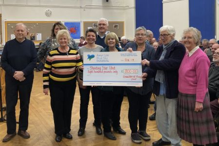02A. Ladies Committee present a Cheque for eight hundred pounds to the Shooting Star appeal