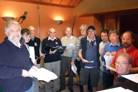 13.Tenors at the Foel Studio near Llanfair Caereinion to record a track for Russell Watson's new album