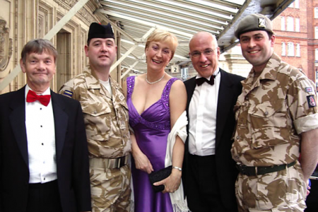 Allan, Ann and Dave at the Albert Hall for the 2008 Classical Brits Album of the Year Award on the 8th of May