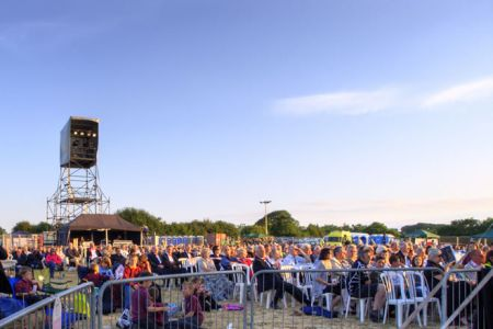 45,The Choirs In The Park audience on a glorious evening at Northop Hall.
