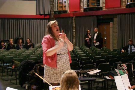 16.Leigh conducting the Choir and Orchestra