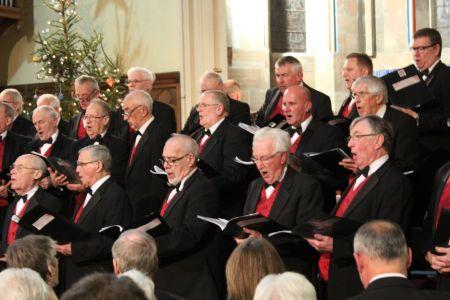 80b. On stage in Trinity church Oswestry