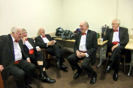 72.Bob, Sam, Martin, Glyn and Den in the Green Room at the Floral Pavilion, New Brighton - 1st December
