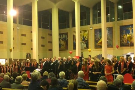 03c Mersey Wave perform for a great audience at the joint valentines concert at St Ambrose church Speke