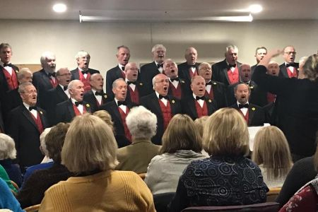 04a. The choir Celebrated St Davids day with a concert at Oswestry Golf club, where they were joined by Lleisiau'r Afon