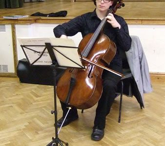 49.Edward Waldron, Cello & Trombone Soloist at the Maelor Music Society Concert, Penley, 17th of October.