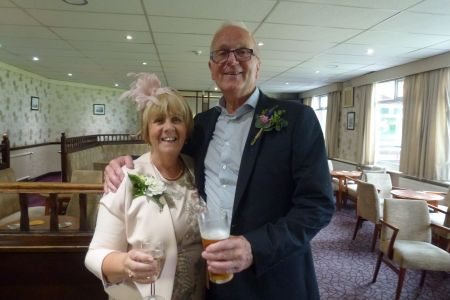 13A. The choir were delighted to take part in the Wedding of choir member Graham Burgess' (pictured here) son Michael and his now Daughter in law Jessica at St James church, Taxal on the 27th July 2019