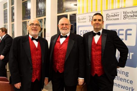 65a.Keith, Mervyn, and Darren ready for the performance