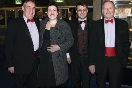 Leigh and Jason with David and Cyril in the Foyer of the Chichester Festival Theatre 12th February.
