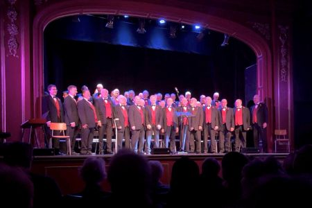 17B. The choir take the stage in the Gladstone theatre in Port Sunlight 09.11.19