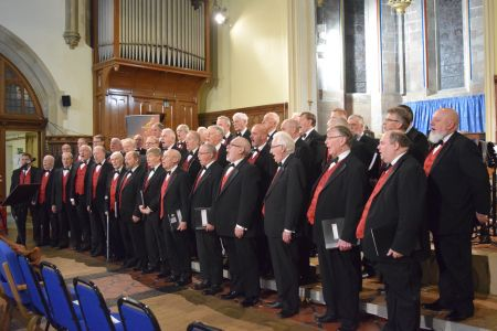 19b. The Boys in song at our annual Christmas concert with the Porth y Waen Silver band at Holy Trinity church Oswestry