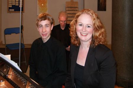 66.Alex, Owen and Caroline - an accompanist's full house at St Francis Church Bournville - 6th December