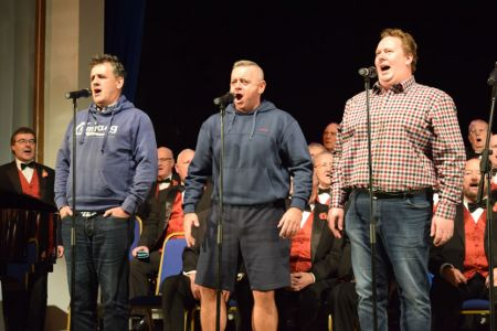 Rehearsal with the Three Welsh Tenors - Rhys Meirion, Aled Hall and Aled Wyn Davies