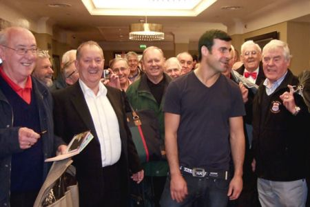 13.In the Grosvenor House Hotel, Park Lane, with Joe Calzaghe as the choir arrives to perform at his Help for Heroes Gala Dinner on the 22nd of March. We were privileged to share the bill with  The Stereophonics, Joss Stone, The Band of the Coldstream Gua
