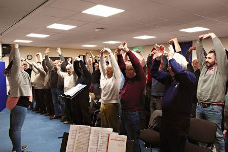 05.Rehearsal in Ysgol Grango - 20th January