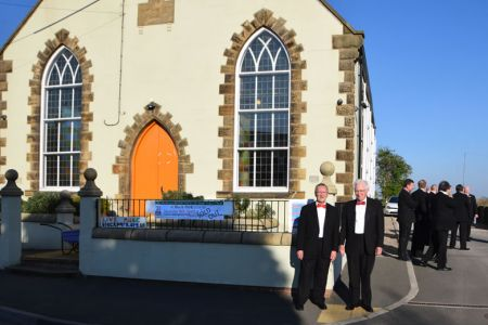 Gren and Den at Black park Methodist chapel 8th April