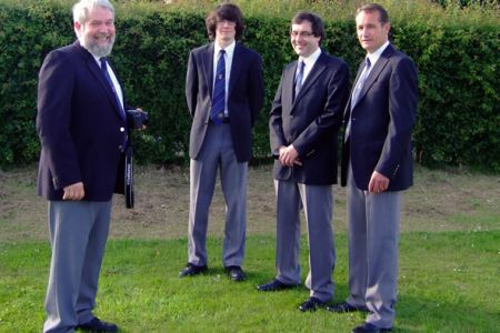 28.Gareth, Jeremy and Dylan at their first concert as full members of the Choir Jon Haddy lines them up for their web site Mugshots