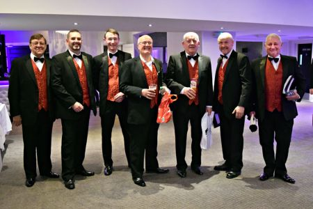 Alun, Darren, Richard, Phil, Colin, Colin and Alan at the Ternhill Hall Hotel, Market Drayton for their Christmas Concert - 2nd December.