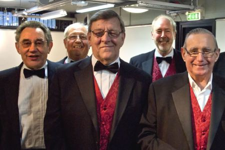 28.John, Paul, Alun, David and Barry backstage in the Llangollen Royal International Pavilion for the Chairman of Denbighshire's Charity Concert.
