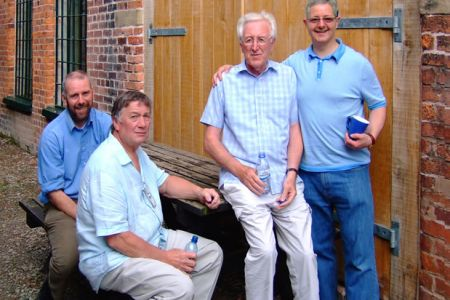 George Dowswell, Sam Hughes, Dennis Williams and Steve Cox taking a break at the Forge Studio