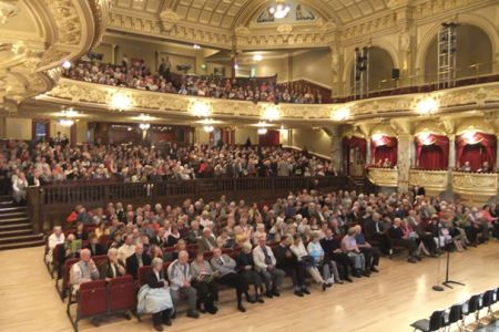 54.A full house at the concert for the Ripon Festival in the Royal Hall Harrogate on the 18th of September. The venue was switched from Ripon Cathedral by the organisers when ticket sales exceeded the capacity of the Cathedral.
