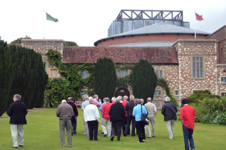 High winds delay the main Choir shoot on day 1  so the Choir visit the nearby Glyndebourne Opera House