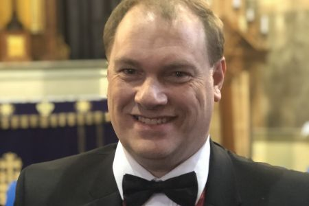 07A. David Hamlington makes his stage debut as a full member at St Alkmunds Church Whitchurch 23/03/19