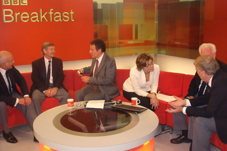 On the BBC Breakfast Bench