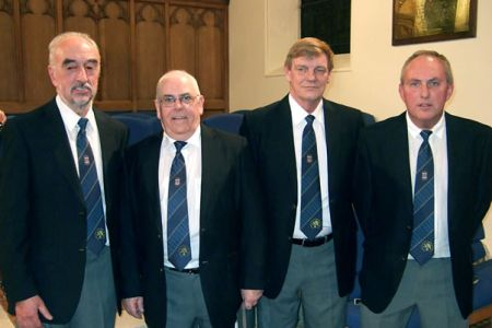 64.Rod, John, Steve and Gareth join the Choir as Full Members at the Oswestry Concert