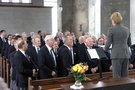 12.The Choir prepare to welcome Prince Charles to Seion Chapel Froncysyllte with Laudamus - 2nd March