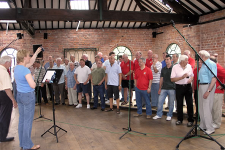 Recording session for Voices of the Valley - Encore at the Forge Studio in Oswestry