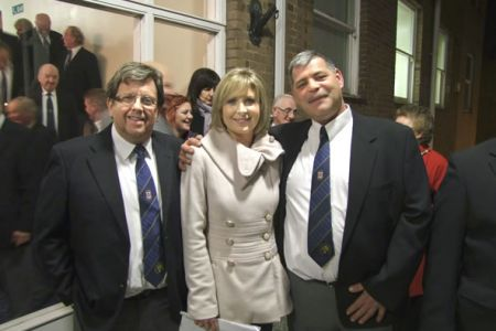 Dave T and Wiktor with Sian Lloyd (BBC Wales Today) at Wrexham's Guildhall launch of the Year of Culture.