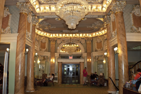 The Lobby of the Wolcott Hotel where we stayed on 4 West 31st Street.