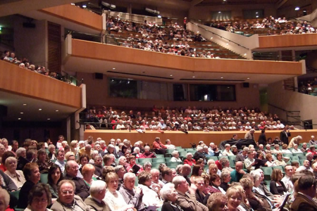 The St Davids Hall auditorium filling up for the performance !