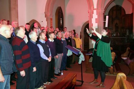96.Rehearsal in Our Lady and St Anne's Church Caversham, the concert venue - 22nd November