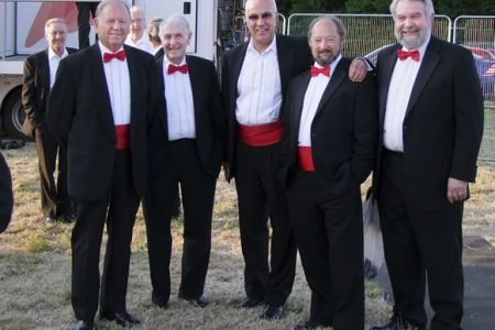 44.Cyril, Malcolm, Dave, Geoff and Jon backstage at the Gwyl Gobaith Concert