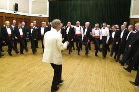 06.Rehearsing the moves in Five Foot Two, Eyes of Blue for a Masonic Ladies Dinner in Burton-on-Trent - 19th February