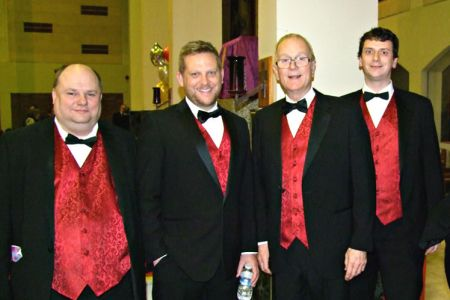 04.Neil, James, Graham and Matthew at St Ambrose Church Speke  for a concert with The Mersey Wave Choir - 19th February