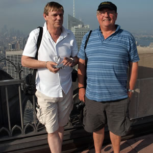 Steve Winn and Paul Hopton atop the Rockefeller Centre- 26th August