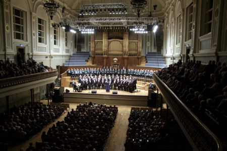 Belfast Music Week Concert in the Ulster Hall with  Margaret Keys and the Donaghadee Male Voice Choir