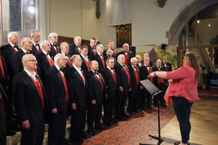 14.St Davids Day Concert practice, Holy Trinity Church, Oswestry - 27th February