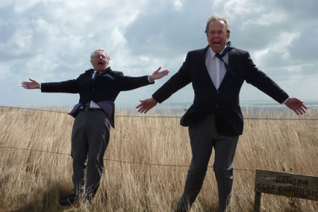 Day 2 and the wind is just as strong on Beachy Head as Merfyn Evans and Trevor Wilford discover !