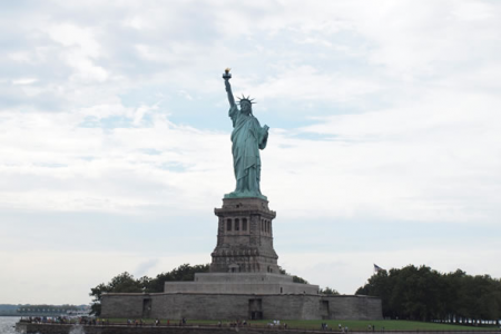 Statue of Liberty from the Harbour Cruise boat - 25th August