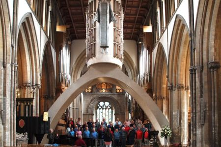 Rehearsal for the concert in Llandaff Cathedral - 10th June