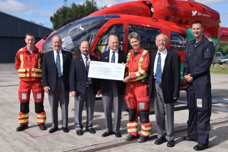 Presenting 850 pounds to Welsh air ambulance 1st July
