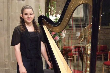 40.Glain Dafydd - Harpist at the St Asaph Cathedral Gala Concert on the 1st of September
