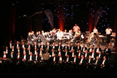 55.Joint Performance with the Jackfield Band in the Oakengates Theatre Telford in aid of Guide Dogs for the Blind - 9th October.