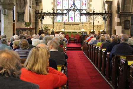 12B. The audience filling up nicely waiting for the start of the charity concert in Llangollen